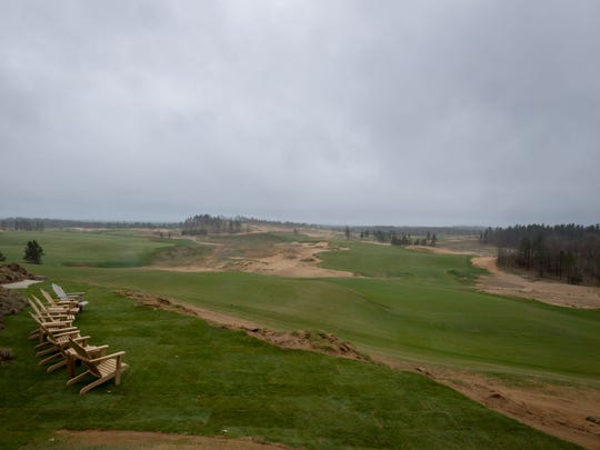Overlooking the Sand Valley Golf Resort during Community