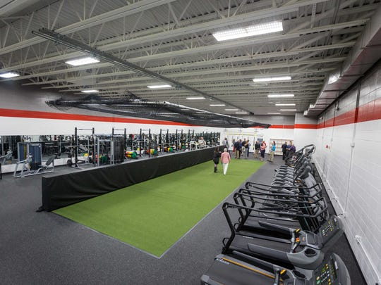 The Pacelli High School unveils a new fitness center on May 10, 2017, after years of planning and collaboration with generous donors who made it possible.