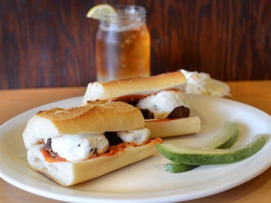 Cyndia's restaurant in Totowa features: Nana Gigi's meatball sandwich.