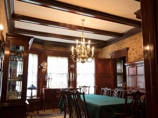 """The dining room in the Arpin """"White House"""" hosted many"""