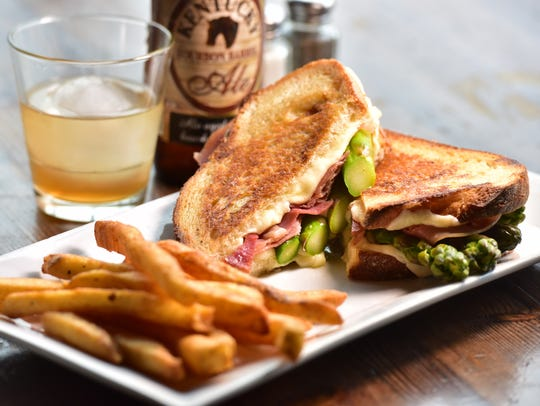 Grilled cheese with prosciutto at Rebar in Lodi.  Photo:
