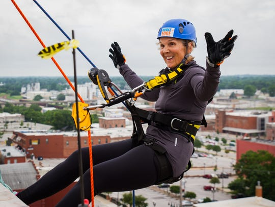 Those who rappel Saturday will be supporting the Child