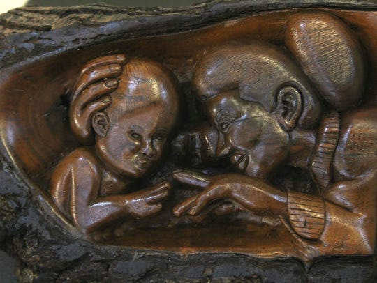 One carving by Rickey Lee, a master carver who spent
