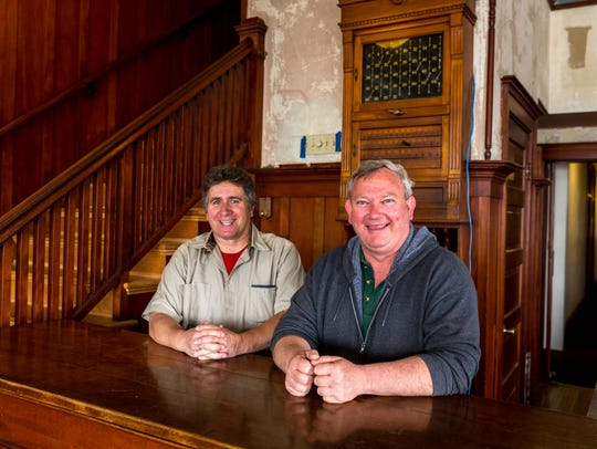 Larry Hodnett and Tim Swiggum, owners of the Woodland