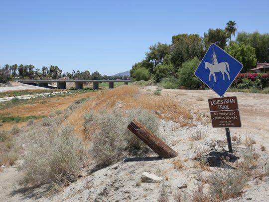 An equestrian trail in Rancho Mirage where CVAG has proposed laying the CV Link. However, Rancho Mirage has opted out of the CV Link.