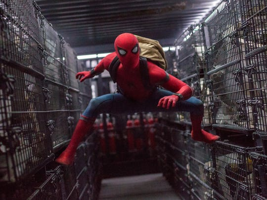 Spider-Man (Tom Holland) finds himself stuck in a lot