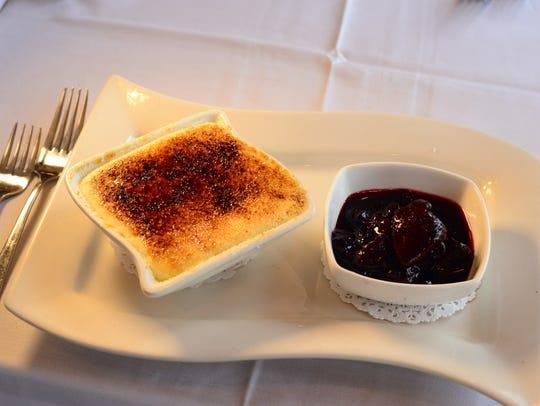 Red white blue cheesecake, Restaurant Due in Ridgewood.