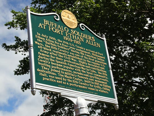 A new historic marker on the Vermont African American Heritage Trail commemorates the Buffalo Soldiers and their time at Fort Ethan Allen in Colchester.