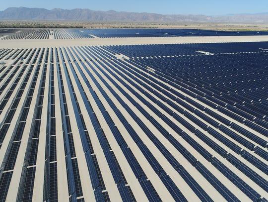The 50-megawatt Seville solar farm at Allegretti Ranch,