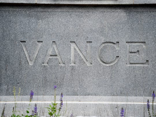 The Vance Monument, a 65-foot obelisk that has dominated Pack Square for more than a century, memorializes Zebulon Baird Vance, a Buncombe County native and governor of the state during the Civil War. Vance, who also served as a U.S. senator and representative, also was a slave owner, complicating his legacy.