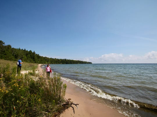 Newport State Park in Door County protects 11 miles of Lake Michigan shoreline.