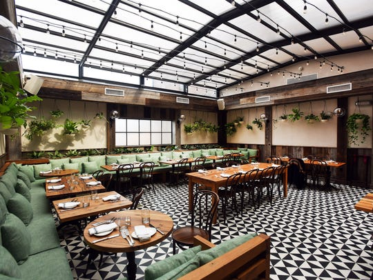 The garden room in Sofia in Englewood is a lovely spot