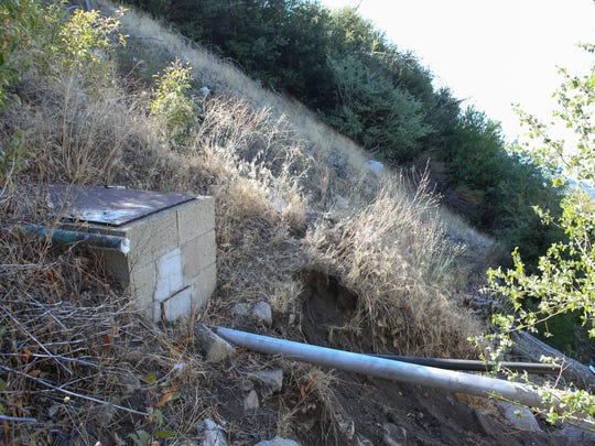 Nestle collects water from this and other boreholes in the Strawberry Creek watershed, near San Bernardino.