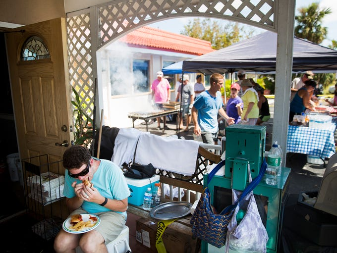 David Wheeler, a Marco Island resident, sits down to
