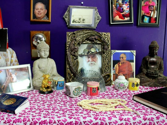 An altar honoring spiritual leaders in Ilsa Plaisance's