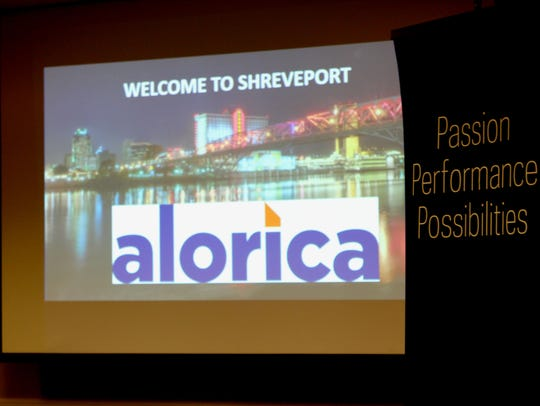 Representatives from Alorica, a customer service provider,
