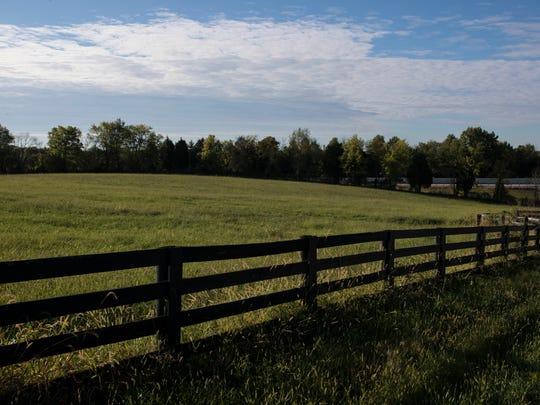 A view of the field where LG&E hopes to build a solar panel farm near the intersection of Wooded Lake Drive and Conner Station Road east of Louisville. Jerry Karem, a resident in the area who has property adjacent to the planned solar farm, sued LG&E over the planned farm and lost, but is planning to appeal. Sept. 28, 2017