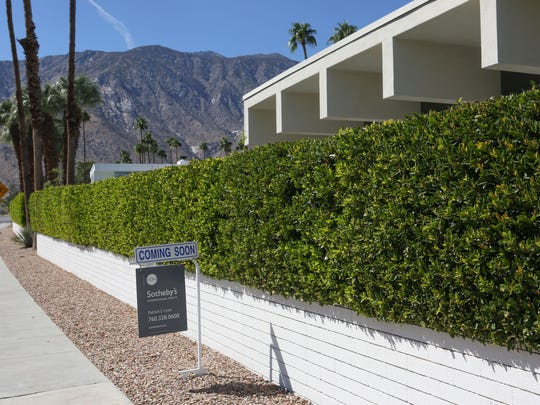A home is for sale on Murray Canyon Dr. in Palm Springs, October 17, 2017.