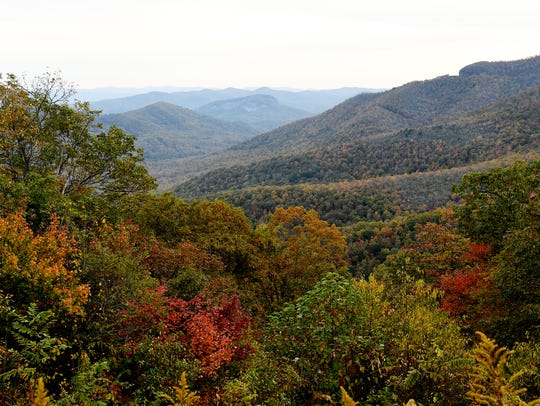 Fall scenes from the Pisgah National Forest and along