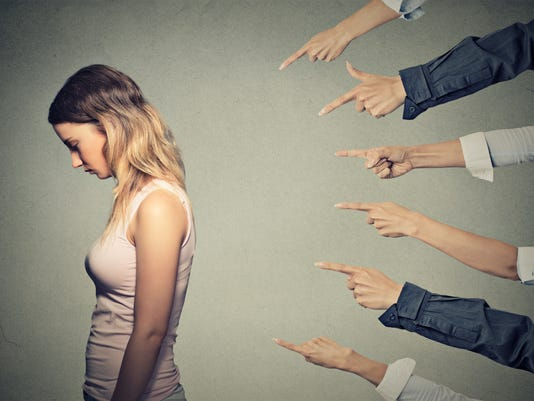 Concept of accusation guilty person girl