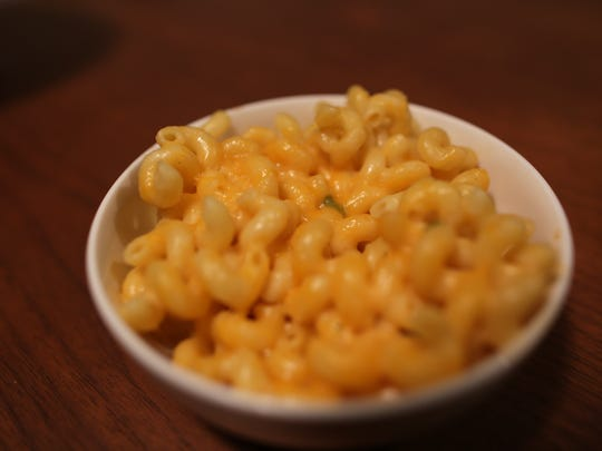 Z'Mariks Noodle Cafe's z'mac n cheese dish is made with curly cavatappi noodles coated in a blend of melted cheese and topped with cheddar jack.
