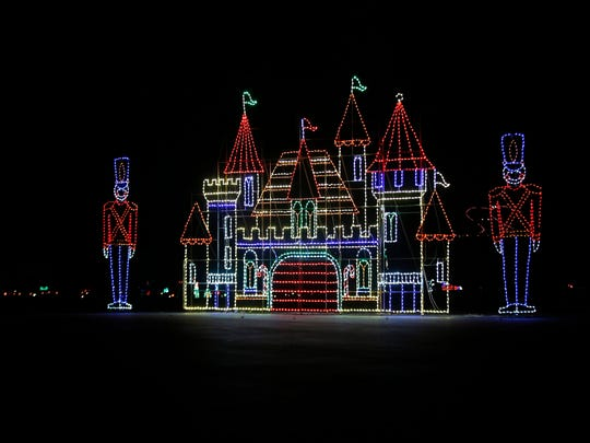 The Pinnacle Speedway in Lights in Bristol includes light displays like this one.
