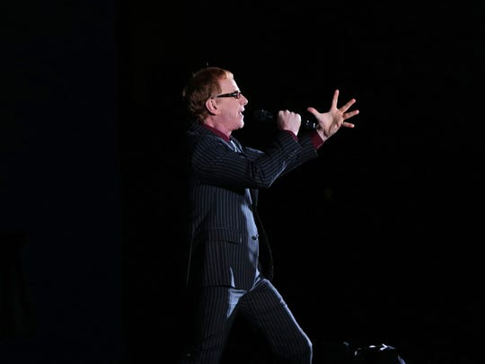 "Danny Elfman, pictured with Disney in Concert: Tim Burton's ""The Nightmare Before Christmas"" at the Hollywood Bowl, November 2016."
