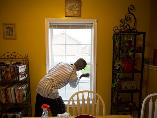 Michael Thomas cleaned the windows in his home before