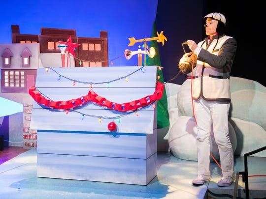 "Matt Daniels plays Snoopy in ""A Charlie Brown Christmas."""