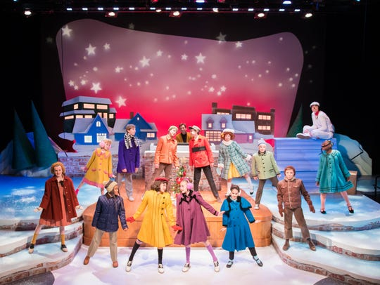 "The cast of First Stage's ""A Charlie Brown Christmas"""
