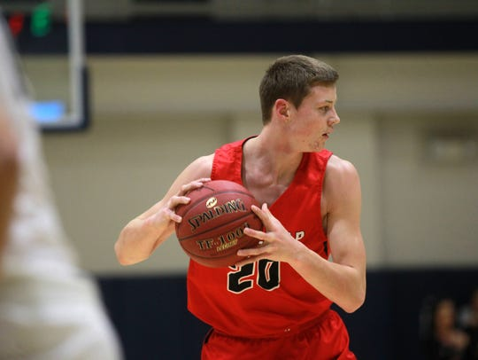 Linn-Mar's Trey Hucheson is pictured at Cedar Rapids Xavier on Friday, Dec. 8, 2017.