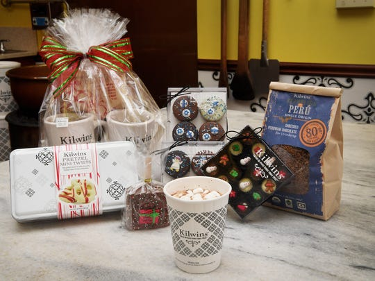In downtown Asheville, Kilwins is open Christmas Eve until 6 p.m. for last-minute stocking stuffers, with a slew of holiday treats including sugar plum jellies, polar bears and chocolate Santas, with house-made hot chocolate to sip while shopping.
