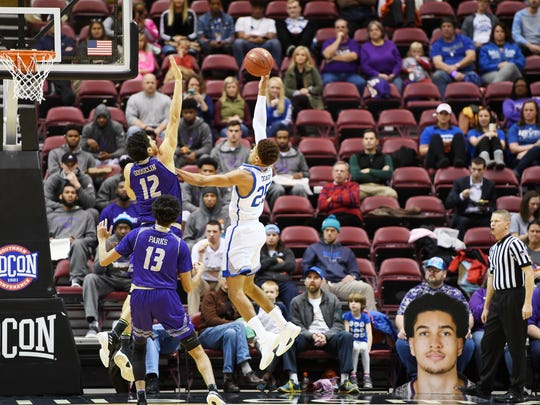 Western Carolina defeated UNC Asheville 76-72 December 17, 2017 at the US Cellular Center in Asheville.