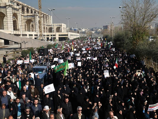 AP IRAN PROTESTS I IRN