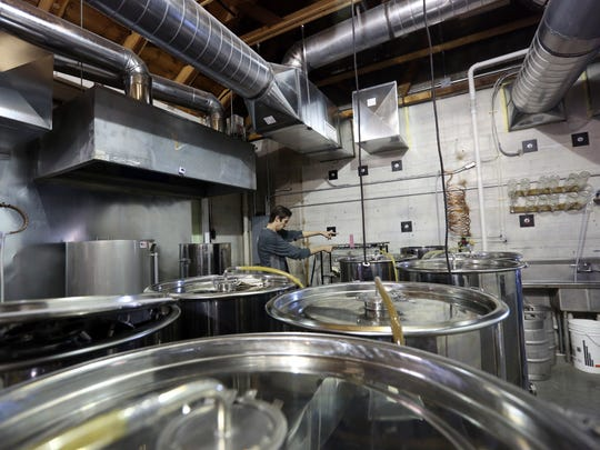 Boot 'n Flute Brewery is pictured inside Guild Wurst