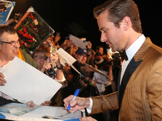 Armie Hammer at the Palm Springs International Film