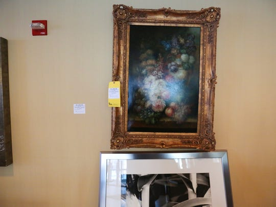 A $1,250 oil painting is pictured at the Sheraton Hotel