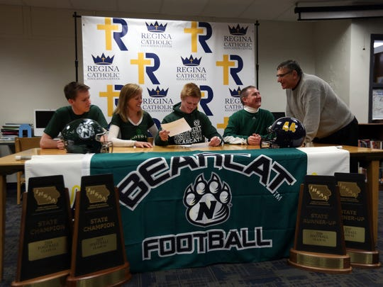 Regina's Isaac Vollstedt signs a letter of intent to