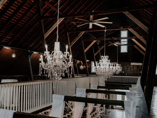 The Loft on Isanogel holds sparkling chandeliers that