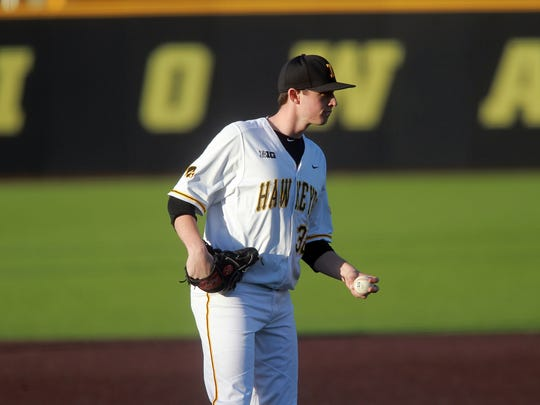 Iowa's Trenton Wallace is pictured during the Hawkeyes'
