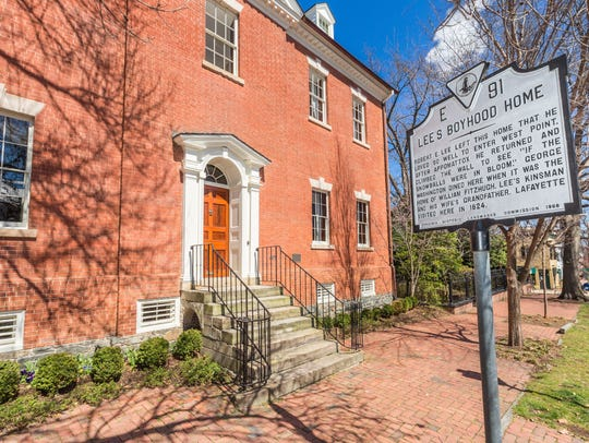 An Alexandria, Virginia townhouse where Confederate