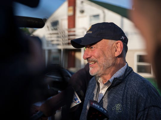 Jack Wolf of Starlight Farm was on hand to watch Justify gallop at Churchill Downs on May 10.