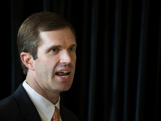 Kentucky attorney general, Andy Beshear, announces