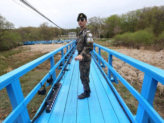 The 160-mile-long demilitarized zone, known as the DMZ, is located 30 miles north of Seoul.