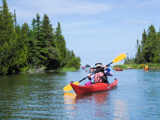 Kayaking in the Les Cheneaux islands of Michigan is a quiet pleasure.