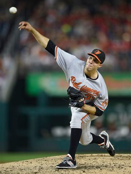 Baltimore starting pitcher Ubaldo Jimenez picked up his 100th career victory on Tuesday night.