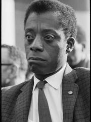 "This image released by Magnolia Pictures shows James Baldwin in ""I Am Not Your Negro."" In Raoul Peck's Oscar-nominated documentary, Baldwin's searing observations on race and America are resurrected for today. Peck and others say Baldwin's words could hardly be more urgent."