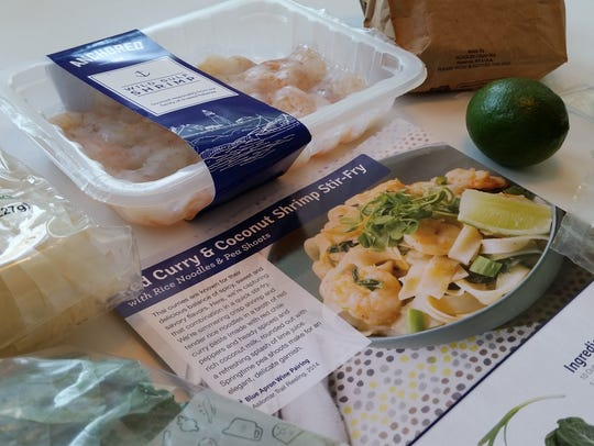 All of the ingredients necessary to make Red Curry