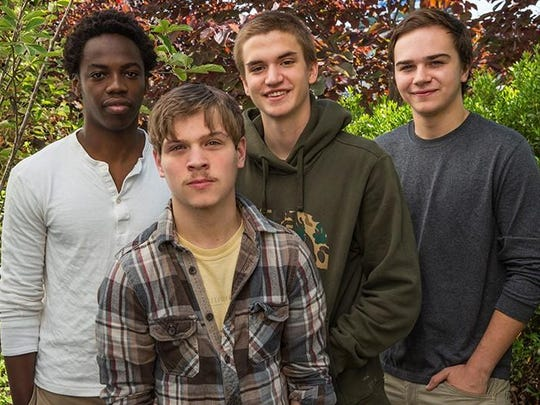 From left, Joseph Hitimana, Chance Daugherty, Caney Hummon and Tommy Prine are working at Thistle Farms this summer alongside survivors of trafficking, genocide and addiction.