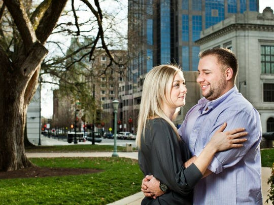 Sean and Lauren Dunbar, now married, at their engagement-portrait session.